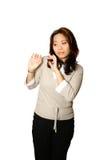 Ängstliche asiatische Frau Lizenzfreie Stockfotos