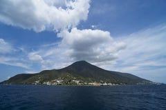 Äolische Insel Italiens Sizilien der Saline stockbilder