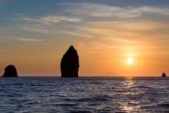 Äolisches Insel-Meer Lizenzfreies Stockfoto