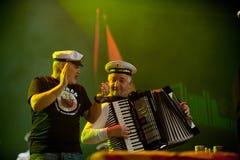 ÄorÄe BalaÅ ¡ eviÄ en zijn Marine van bandPanonian Royalty-vrije Stock Fotografie