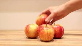 Äpfel stock video