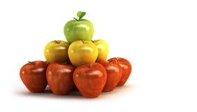 Äpfel 3d Lizenzfreies Stockbild