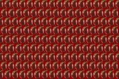 Äpfel auf rotem Hintergrund Stockfotos