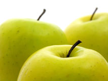 Äpfel auf Weiß Lizenzfreie Stockfotografie