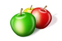 Äpfel auf Weiß Lizenzfreie Stockfotos