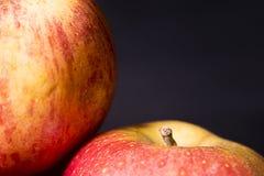 Äpfel entlang der Seite stockbild