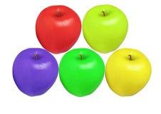 Äpfel färben getrennt Stockfotografie