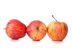 Äpfel getrennt auf Weiß Stockbilder