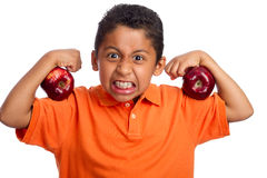 Äpfel halten Sie gesund und stark Lizenzfreie Stockfotos