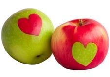 Äpfel mit Innerem Lizenzfreie Stockfotos