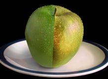 Äpfel sind golden Stockfoto
