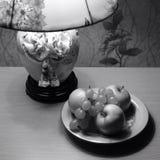 Äpfel u. Traube Stockfotografie
