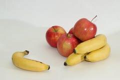Äpfel und Bananen Stockfoto