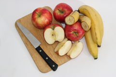 Äpfel und Bananen Lizenzfreies Stockfoto