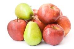 Äpfel und Birnen stockfoto