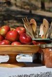 Äpfel und Ernte Lizenzfreie Stockfotografie