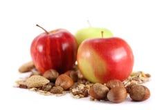 Äpfel und Getreide Stockfotografie
