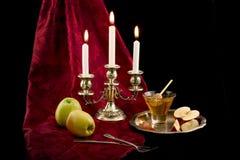 Äpfel und Honig Stockfotos