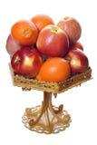 Äpfel und Mandarinen Stockfoto
