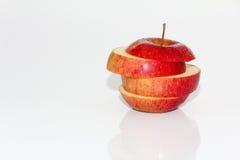 Äpfel und orange Frucht Stockfoto