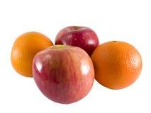 Äpfel und Orangen Lizenzfreie Stockbilder