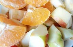 Äpfel und Orangen Stockbilder