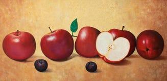 Äpfel und Pflaumen Stockfotos