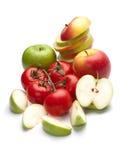 Äpfel und Tomaten Lizenzfreies Stockfoto
