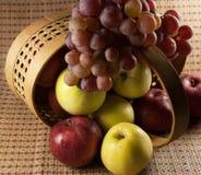 Äpfel und Trauben lizenzfreie stockbilder