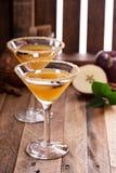 Äppelcider martini med stjärnaanis Fotografering för Bildbyråer