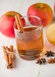 Äppelcider med kanel Royaltyfri Fotografi