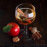 Äppelciderstilleben Arkivfoto