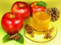 Äppeljuicetid Royaltyfria Foton