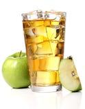 Äppelmust med is royaltyfri fotografi