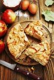 Äppelpaj charlotte Royaltyfri Fotografi