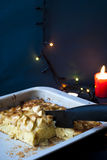 Äppelpaj för jul Fotografering för Bildbyråer