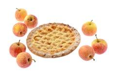 Äppelpaj och äpplen Royaltyfria Foton