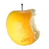 äpple äten hälft Royaltyfria Bilder