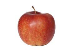 äpple över röd enkel white Fotografering för Bildbyråer