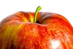 äpple över röd white Royaltyfria Bilder