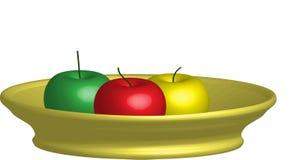 äpple 3d Arkivfoton