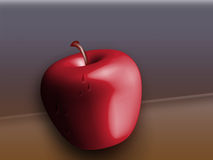 äpple 3d royaltyfri illustrationer