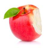 äpple biten grön isolerad saftig leafred royaltyfri foto