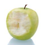 äpple biten green royaltyfri foto