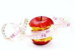 äpple biten red arkivbilder