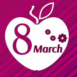 8 äpple för mars arkivbilder