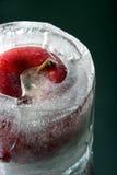 äpple fryst zoom Fotografering för Bildbyråer