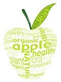 äpple - grön bokstav Arkivfoto