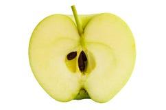 äpple - grön hälft Arkivbilder