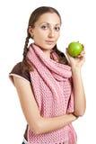 äpple - grön kvinna Arkivfoton